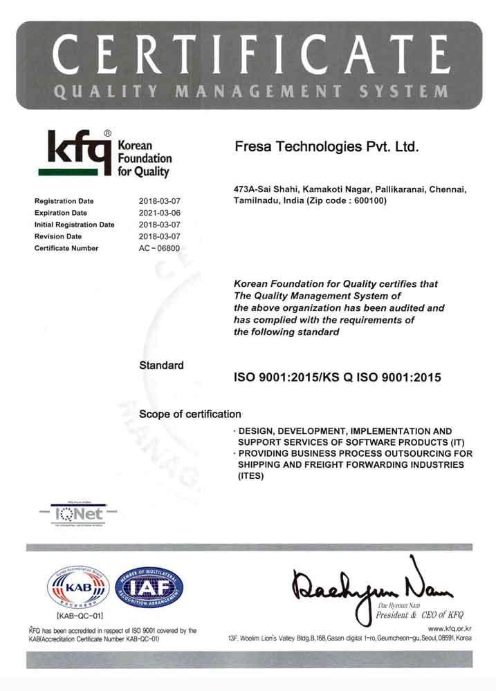 Fresa-Technologies_ISO-Certificate