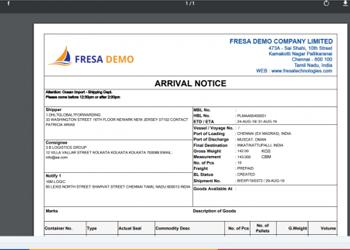 Cargo-Arrival-Notice