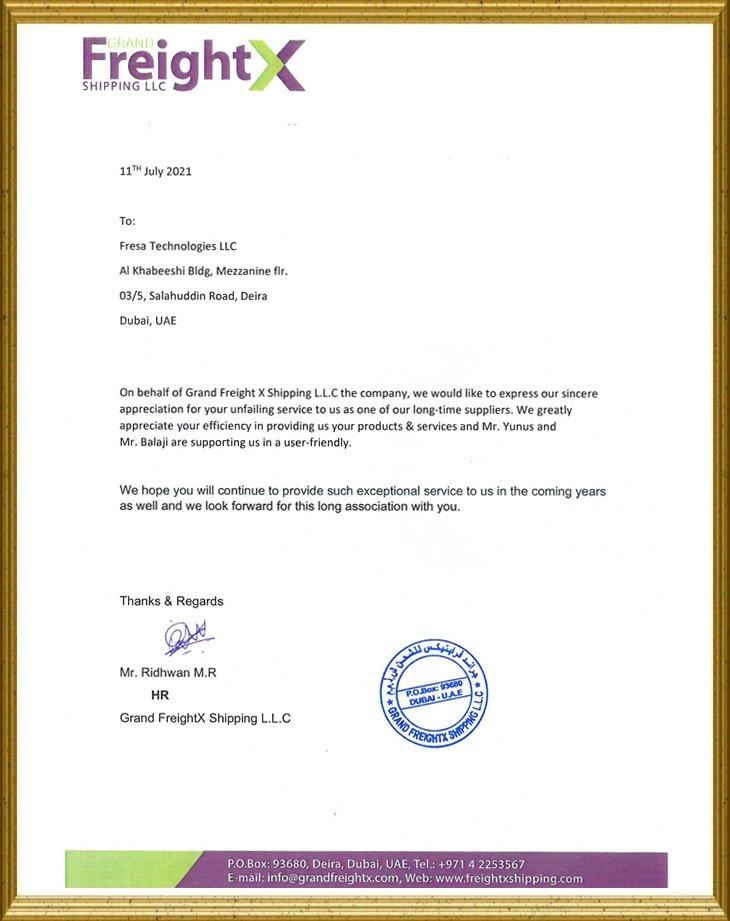 Grand FreightX Shipping LLC
